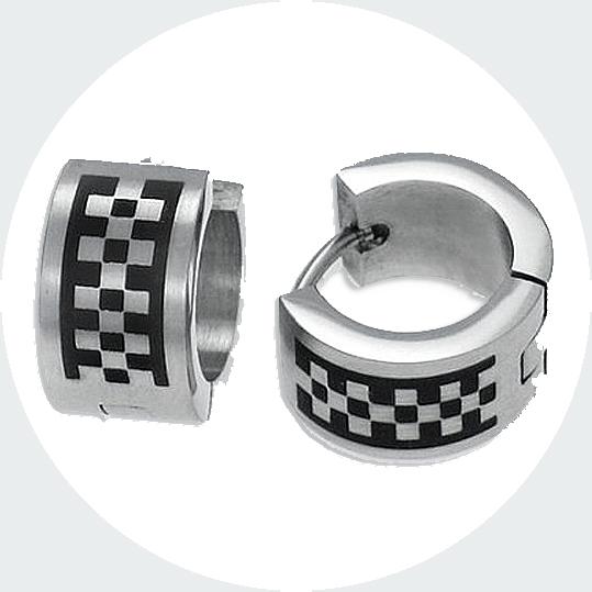 orecchini acciaio